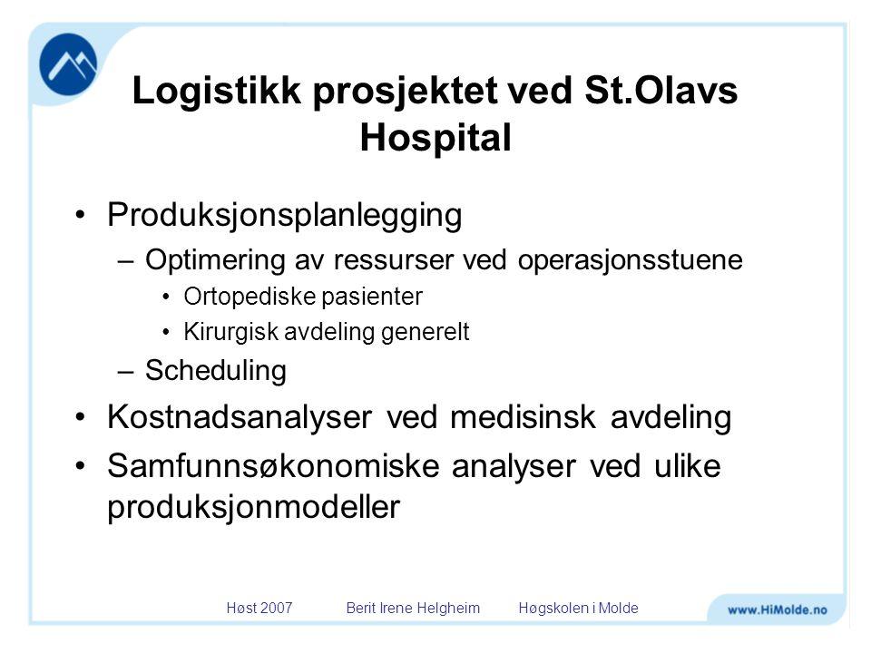 Logistikk prosjektet ved St.Olavs Hospital