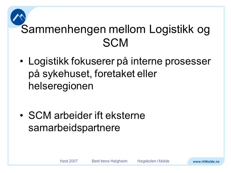 Sammenhengen mellom Logistikk og SCM