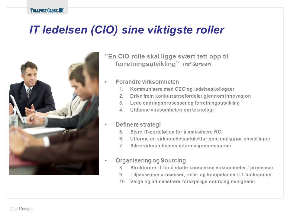 IT ledelsen (CIO) sine viktigste roller