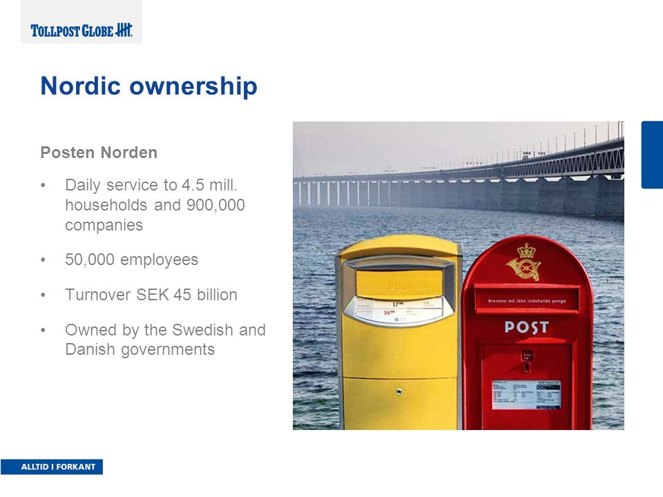 Nordic ownership Posten Norden