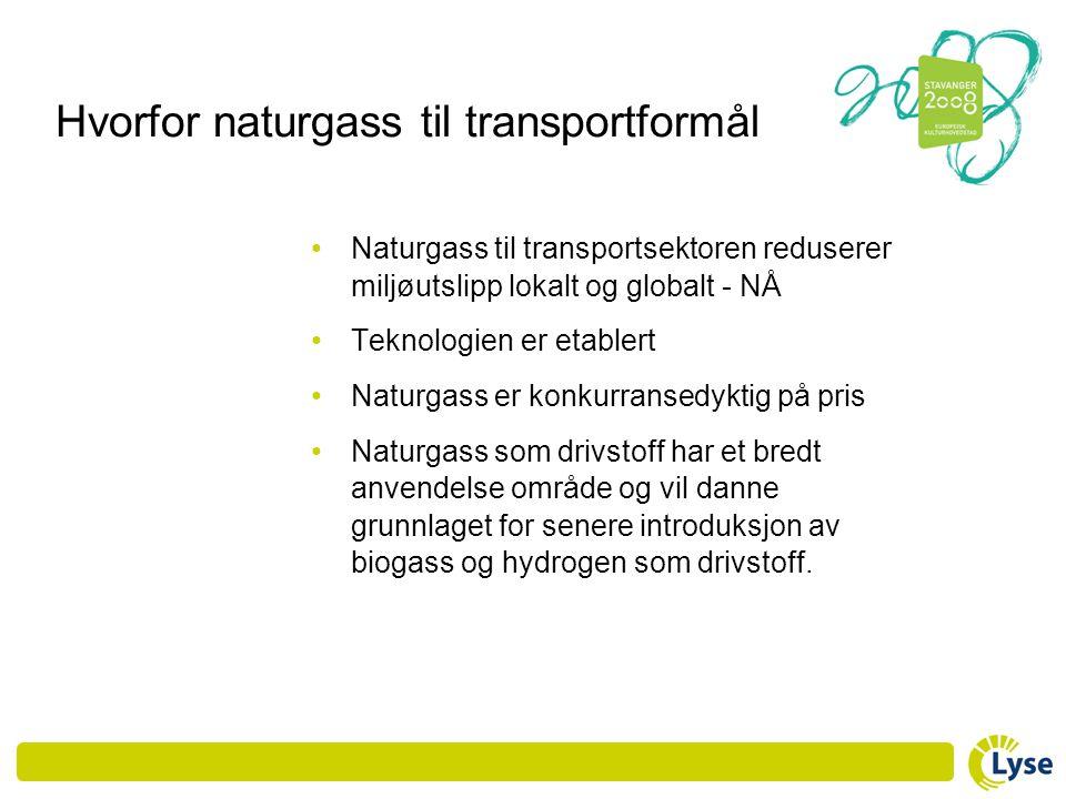 Hvorfor naturgass til transportformål