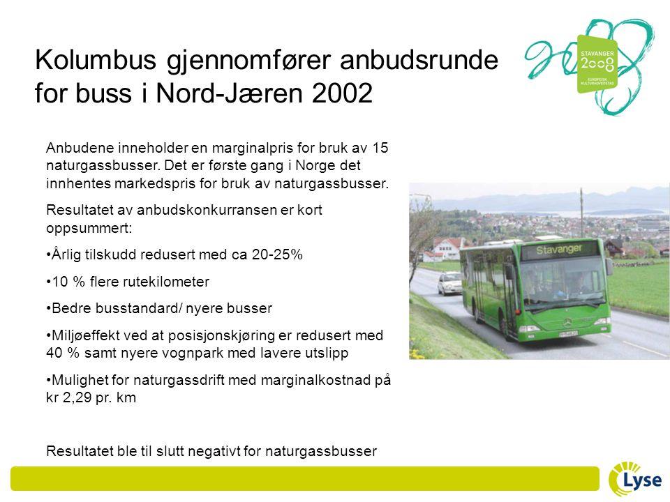 Kolumbus gjennomfører anbudsrunde for buss i Nord-Jæren 2002