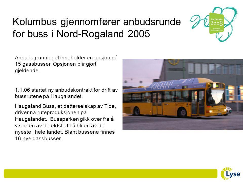 Kolumbus gjennomfører anbudsrunde for buss i Nord-Rogaland 2005