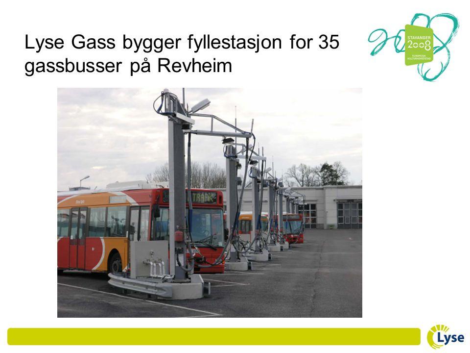 Lyse Gass bygger fyllestasjon for 35 gassbusser på Revheim