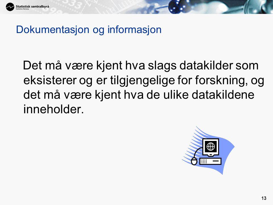 Dokumentasjon og informasjon