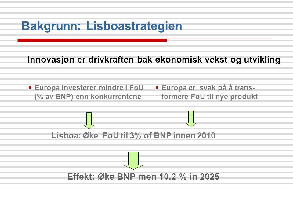 Lisboa: Øke FoU til 3% of BNP innen 2010