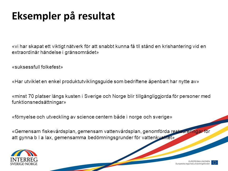 Eksempler på resultat