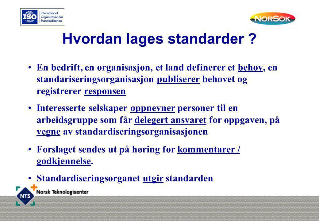 Hvordan lages standarder