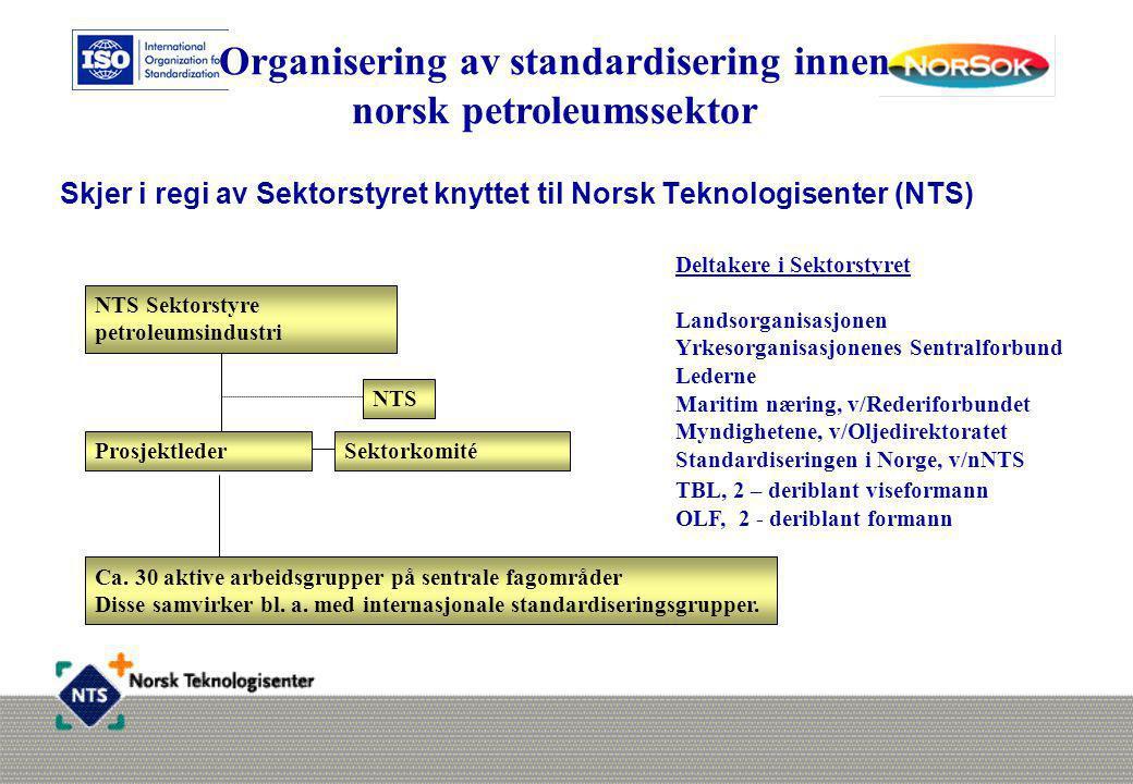Skjer i regi av Sektorstyret knyttet til Norsk Teknologisenter (NTS)