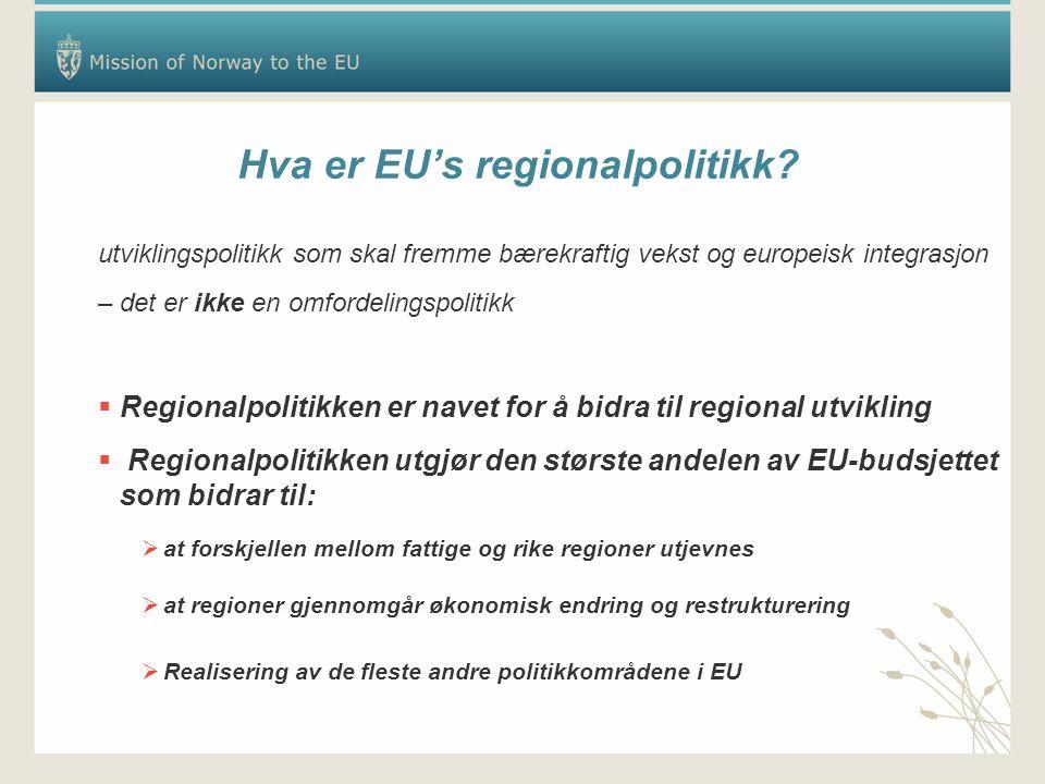 Hva er EU's regionalpolitikk