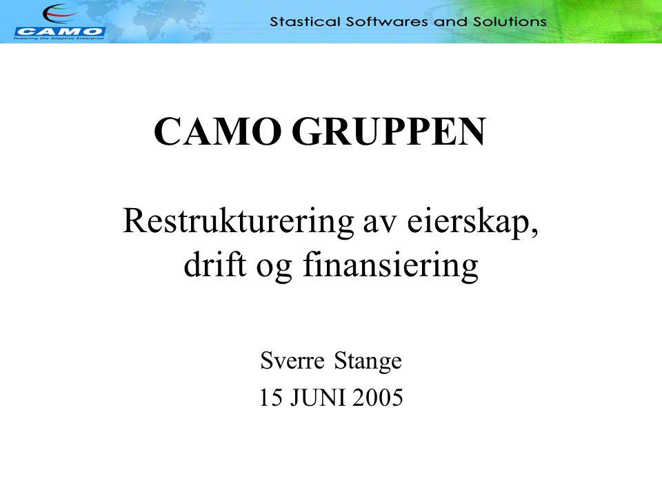 Restrukturering av eierskap, drift og finansiering