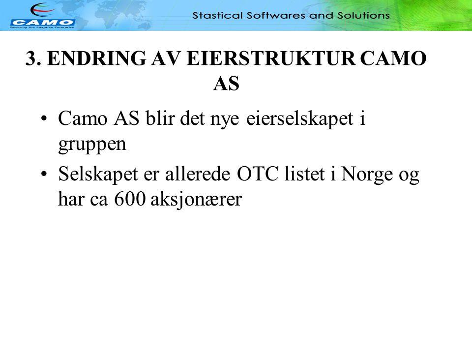 3. ENDRING AV EIERSTRUKTUR CAMO AS