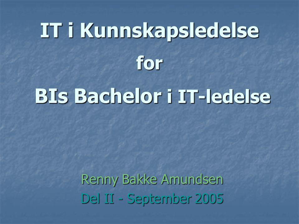 IT i Kunnskapsledelse for BIs Bachelor i IT-ledelse