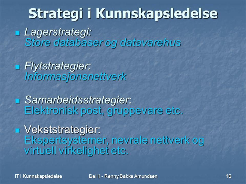 Strategi i Kunnskapsledelse