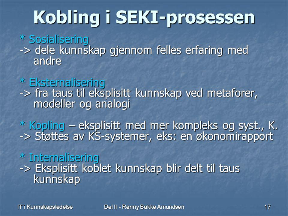 Kobling i SEKI-prosessen