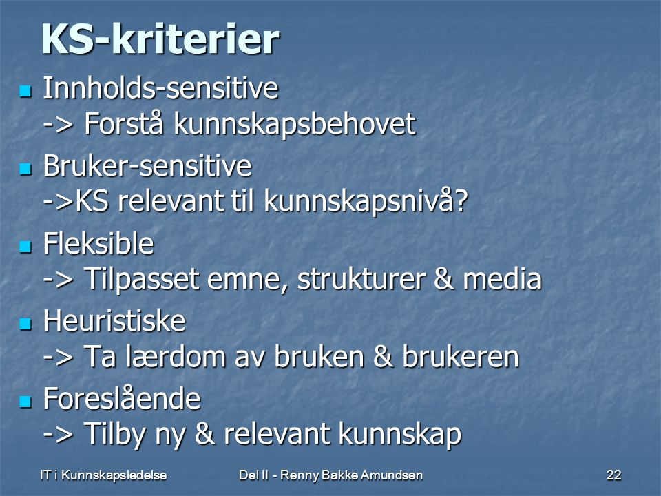 Del II - Renny Bakke Amundsen