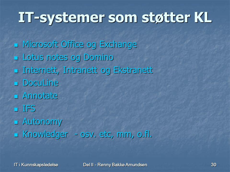 IT-systemer som støtter KL