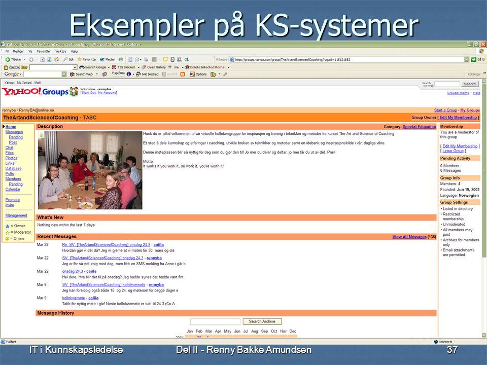 Eksempler på KS-systemer