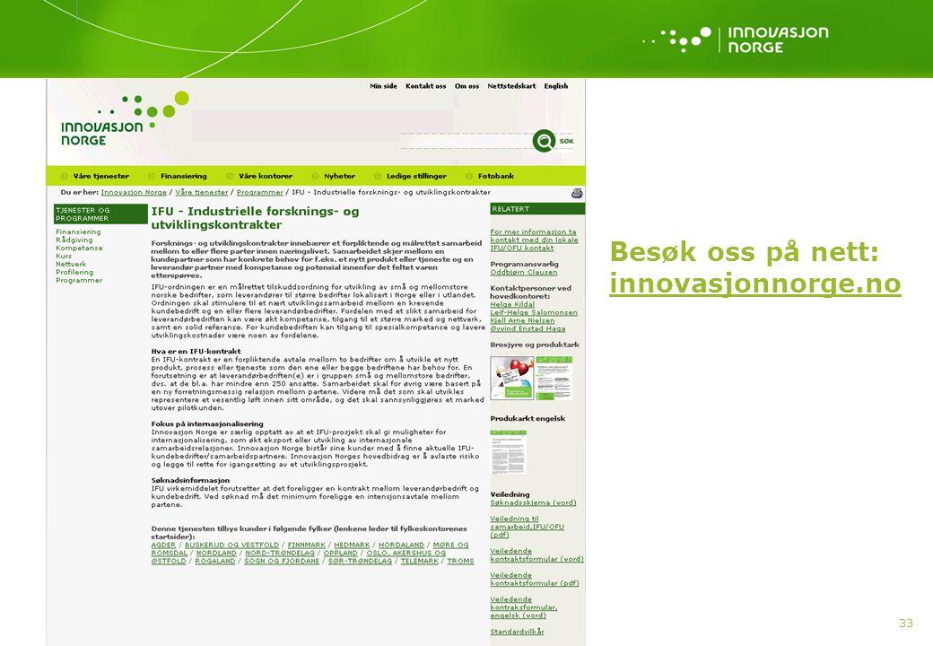 Besøk oss på nett: innovasjonnorge.no