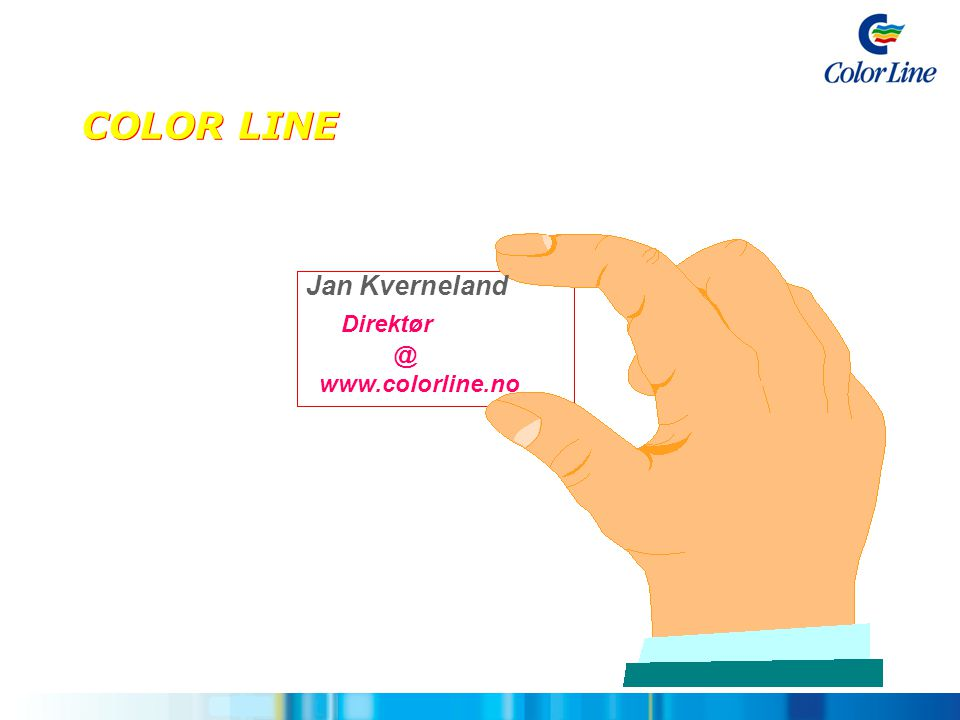 COLOR LINE Jan Kverneland Direktør @ www.colorline.no 3