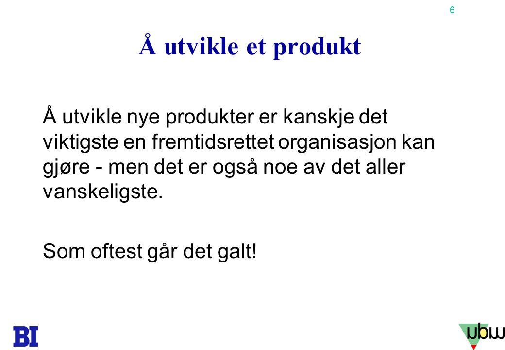 Å utvikle et produkt