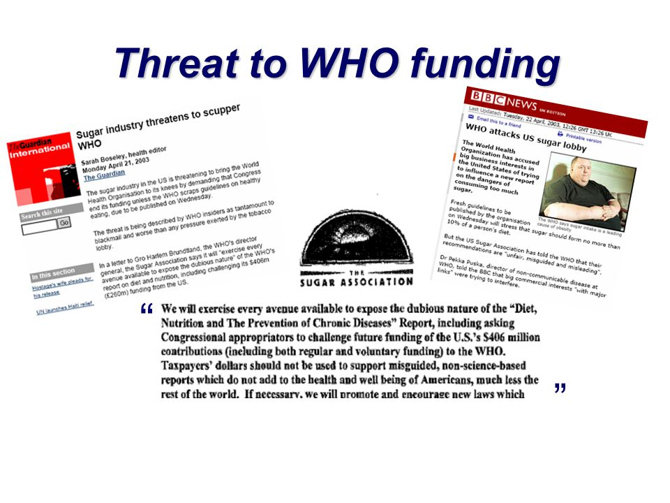 Threat to WHO funding