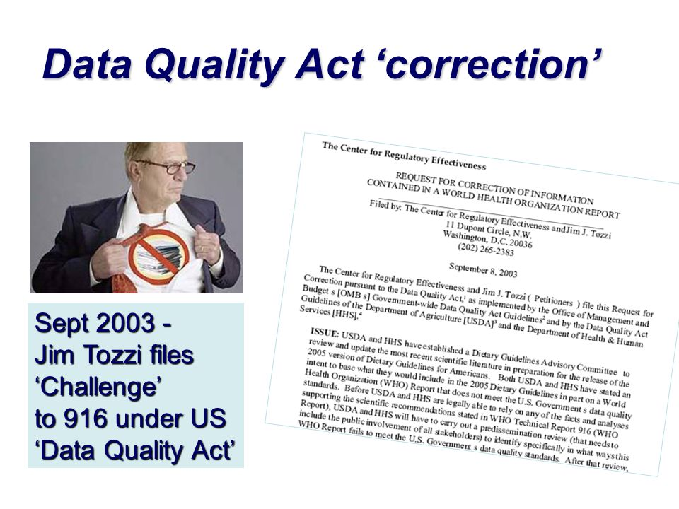 Data Quality Act 'correction'