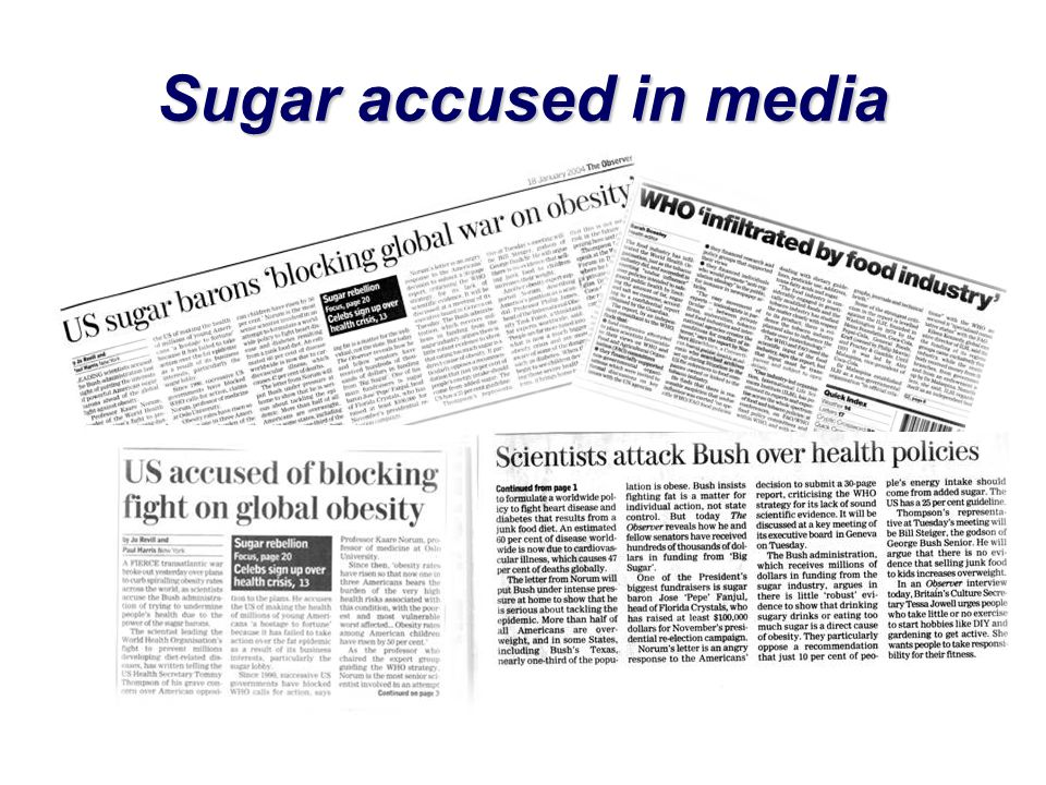 Sugar accused in media
