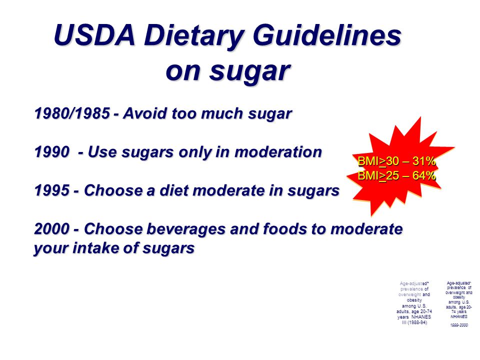 USDA Dietary Guidelines on sugar
