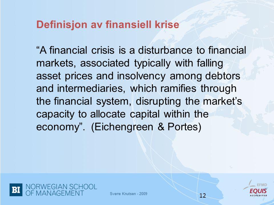 Definisjon av finansiell krise