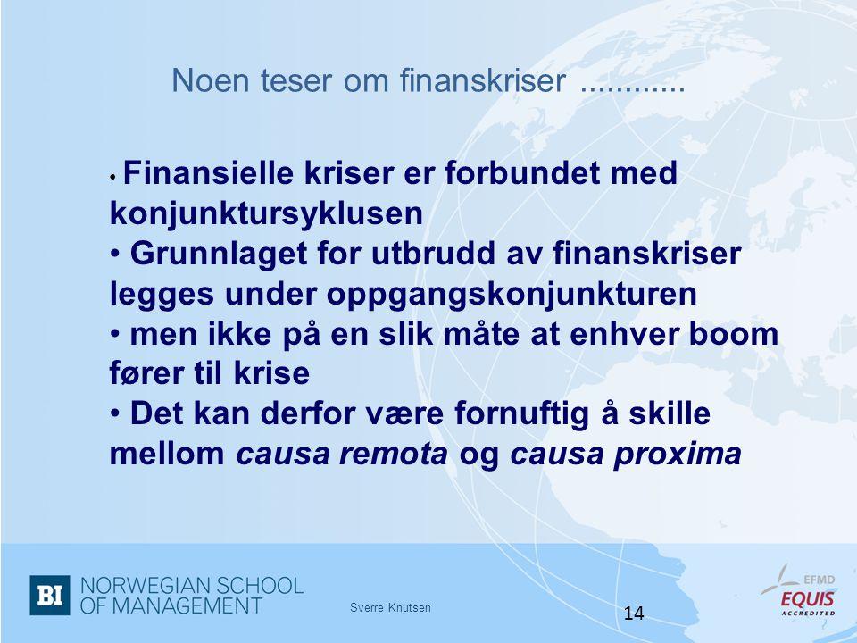 Noen teser om finanskriser ............