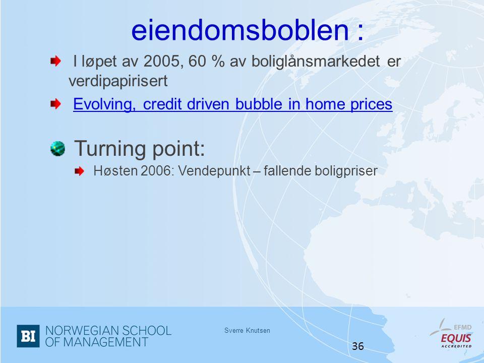 eiendomsboblen : Turning point: