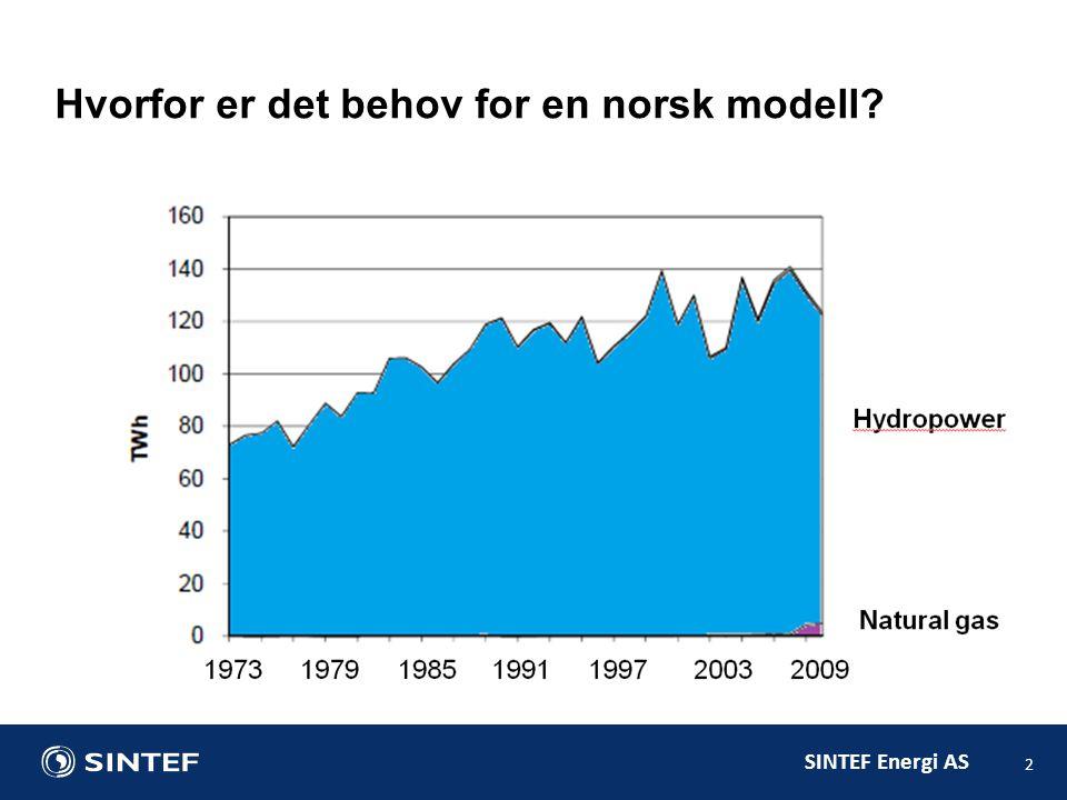 Hvorfor er det behov for en norsk modell