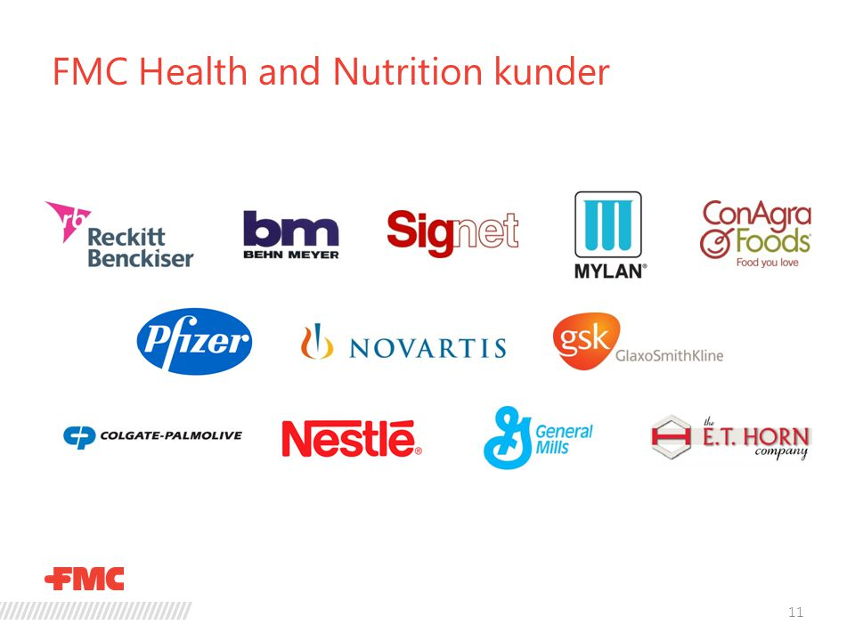 FMC Health and Nutrition kunder