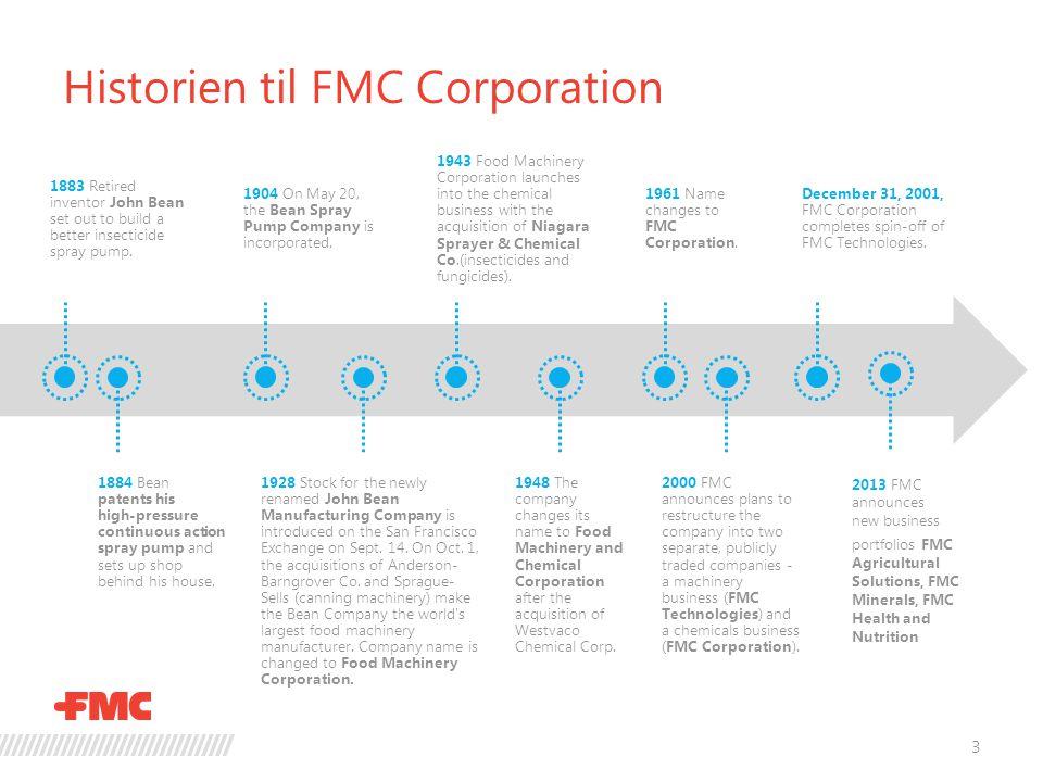 Historien til FMC Corporation