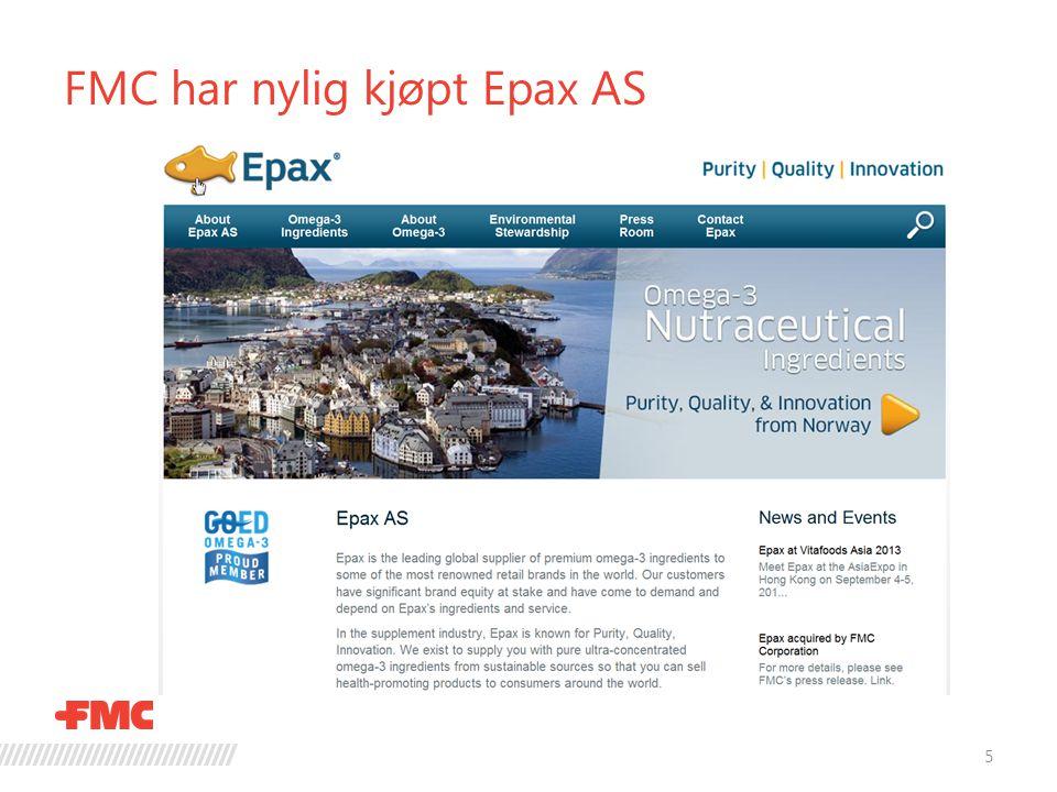 FMC har nylig kjøpt Epax AS