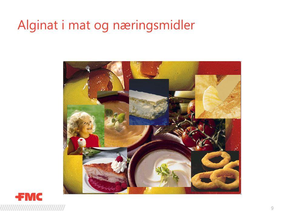 Alginat i mat og næringsmidler