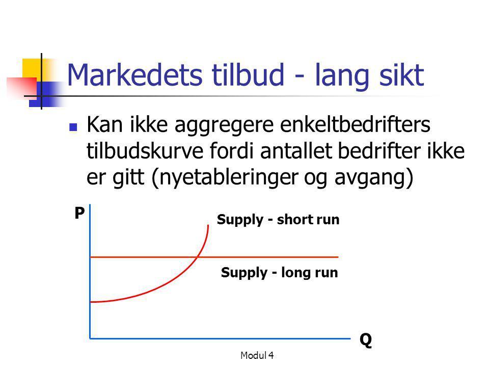 Markedets tilbud - lang sikt