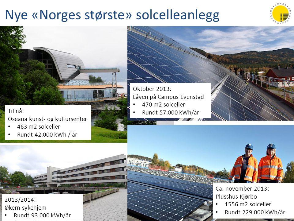 Nye «Norges største» solcelleanlegg