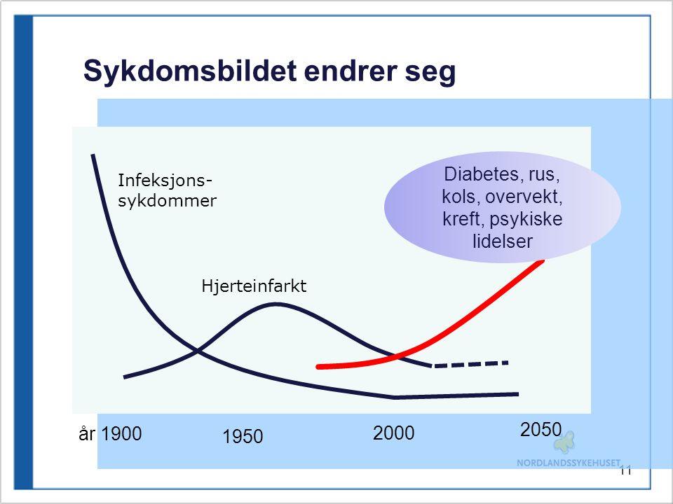 Diabetes, rus, kols, overvekt, kreft, psykiske lidelser