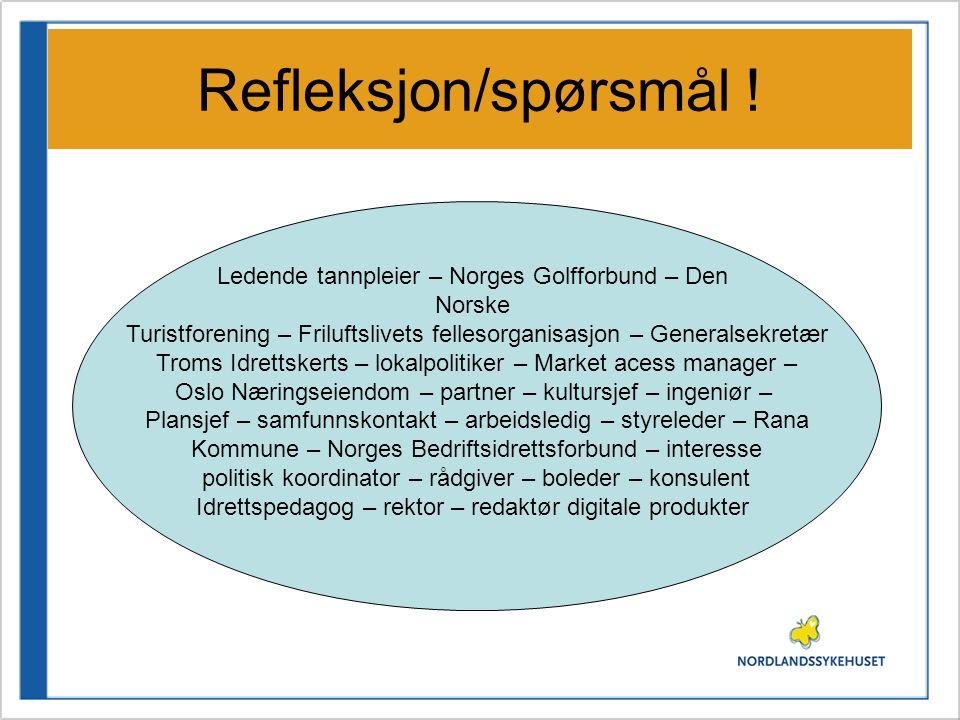 Refleksjon/spørsmål ! Ledende tannpleier – Norges Golfforbund – Den