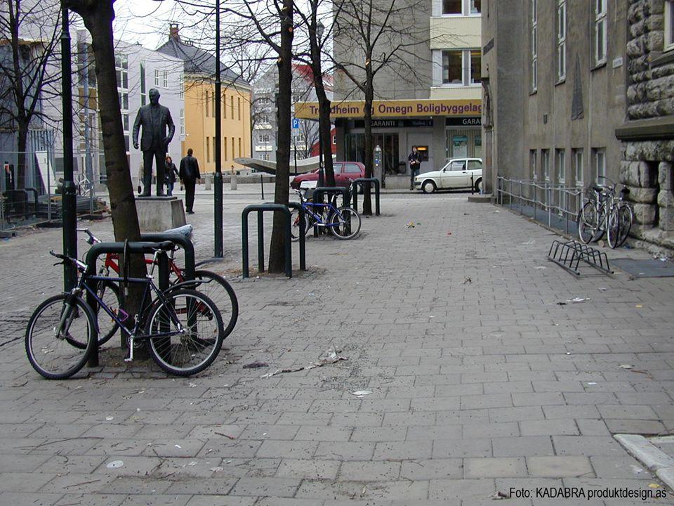 Bildet er tatt i forbindelse med brukerundersøkelse av sykkelstativer for Ørsta Stål.