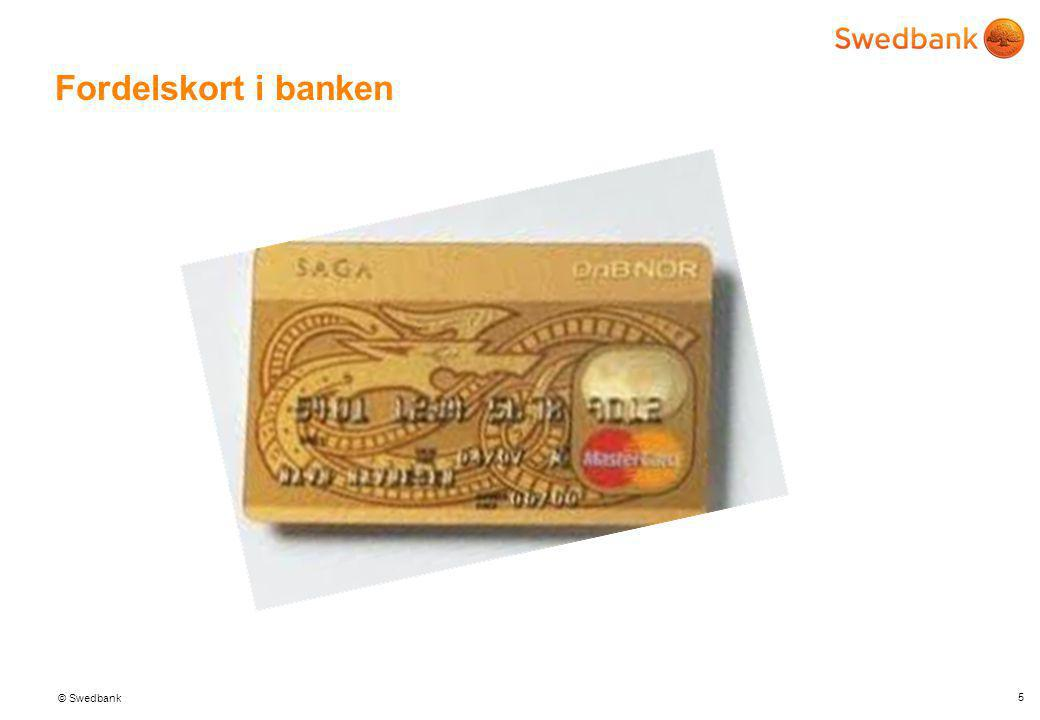 Fordelskort i banken