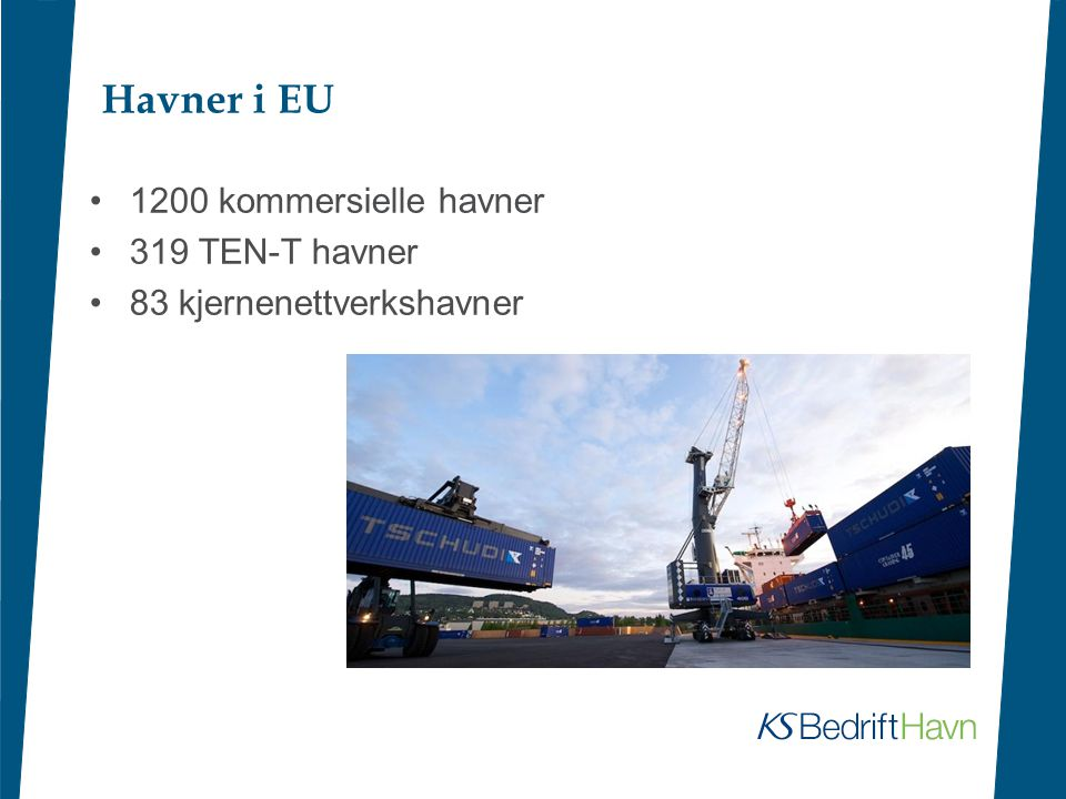 Havner i EU 1200 kommersielle havner 319 TEN-T havner
