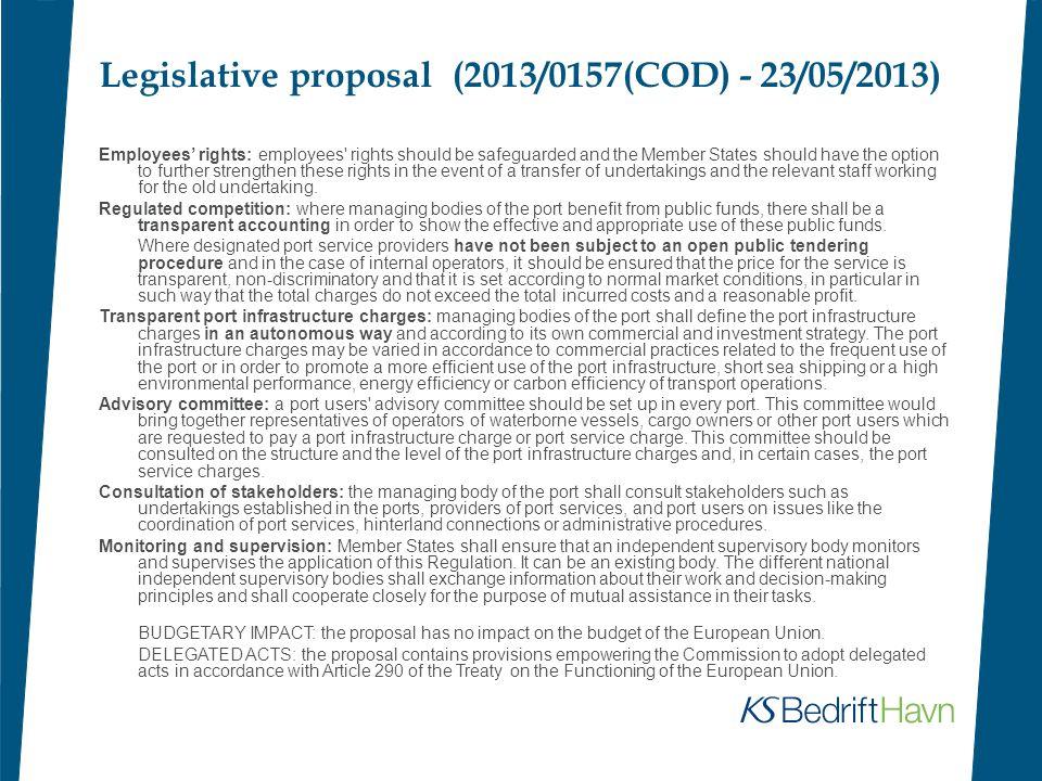 Legislative proposal (2013/0157(COD) - 23/05/2013)