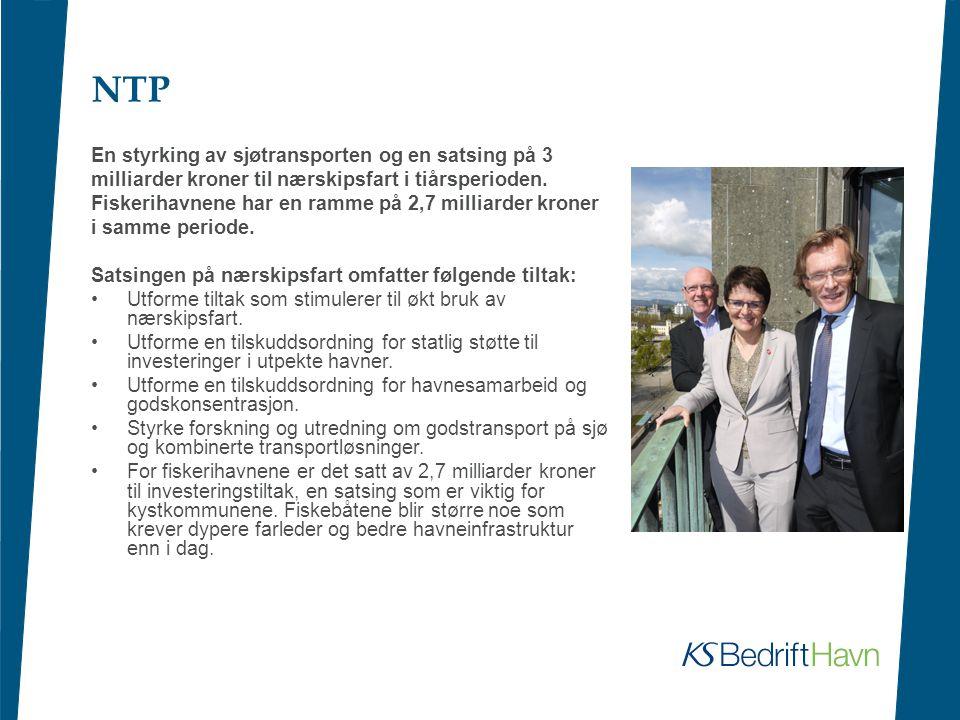 NTP En styrking av sjøtransporten og en satsing på 3
