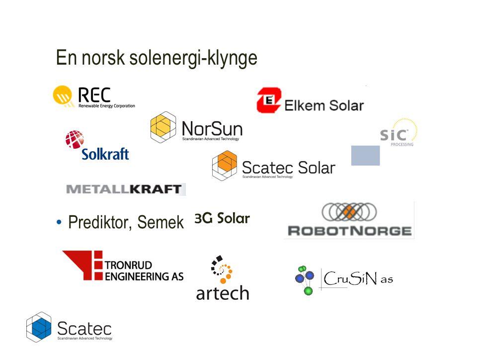 En norsk solenergi-klynge