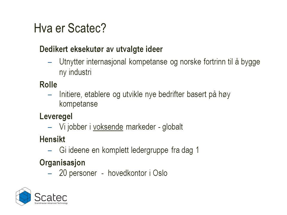 Hva er Scatec Dedikert eksekutør av utvalgte ideer