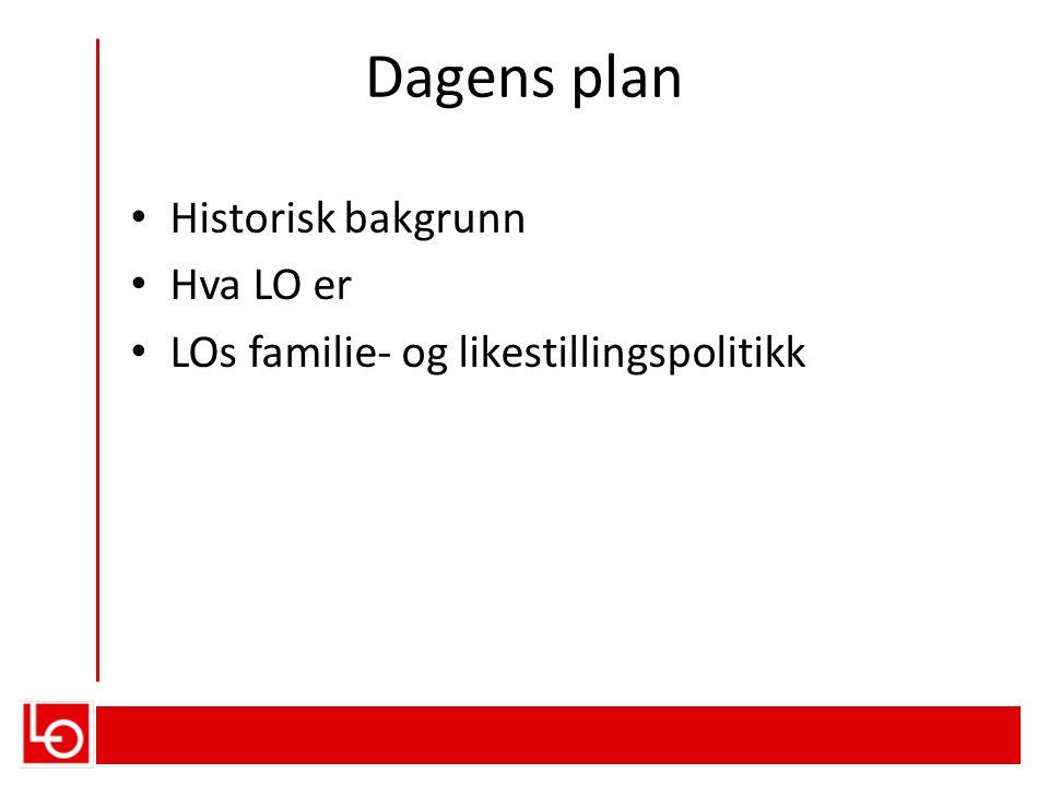 Dagens plan Historisk bakgrunn Hva LO er