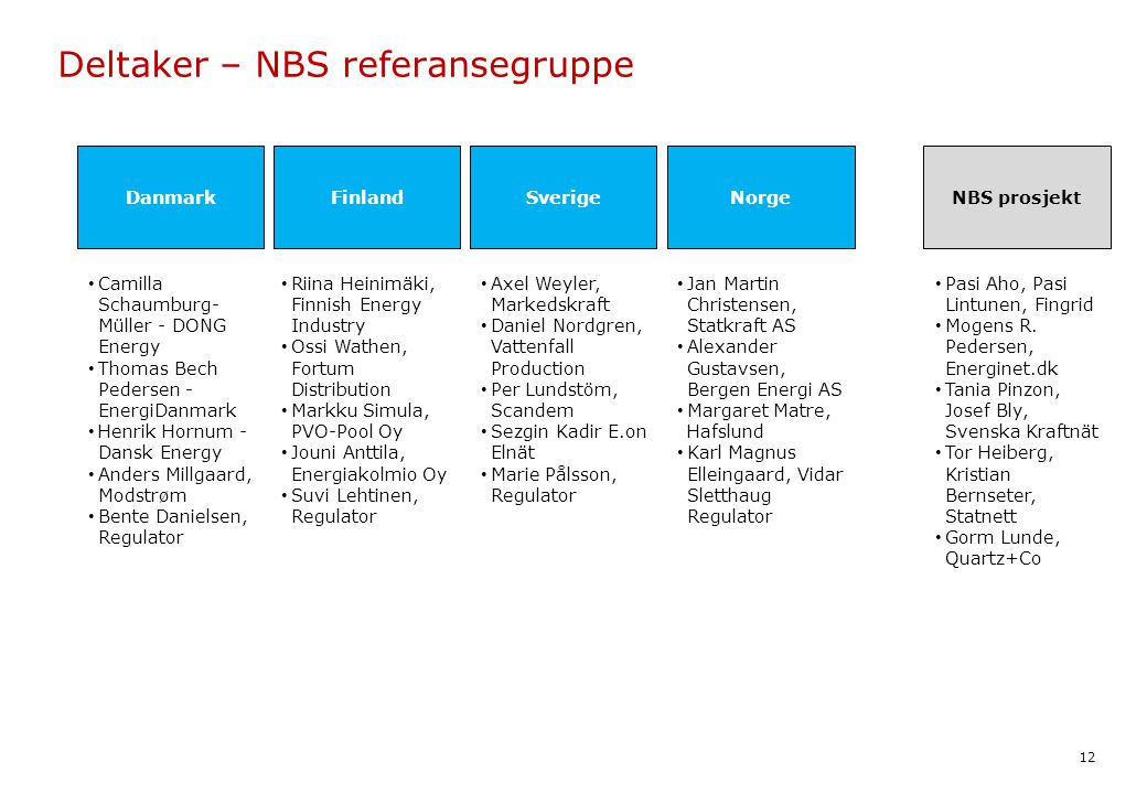 Deltaker – NBS referansegruppe